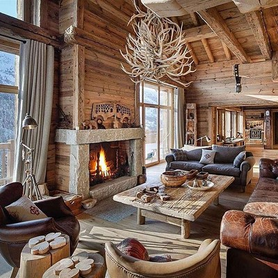 chalet bois decoration interieur