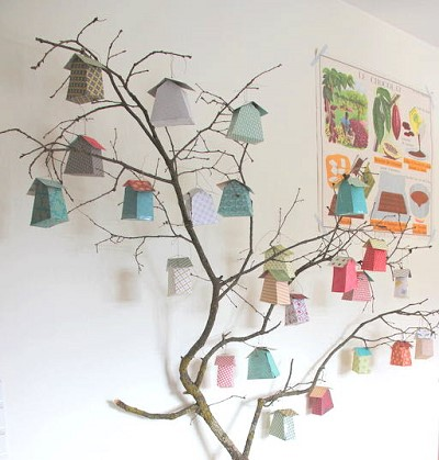 decoration arbre bois