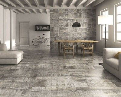 decoration carrelage gris clair