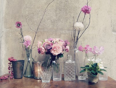 decoration florale vintage