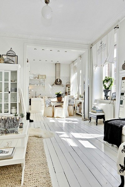 decoration interieur bois blanc