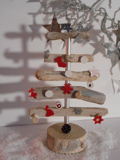 decoration noel bois flotte