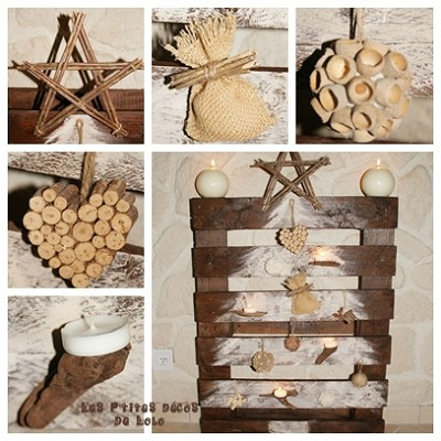 decoration noel bois naturel