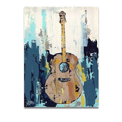 decoration peinture guitare