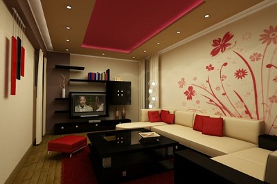 decoration peinture salon moderne