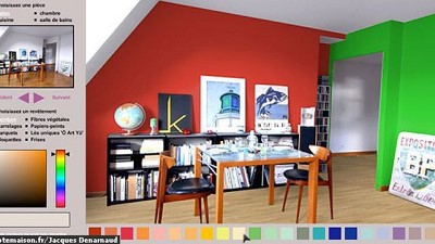 decoration peinture salon simulation