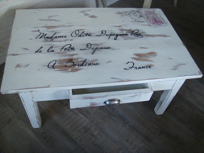 decoration peinture table