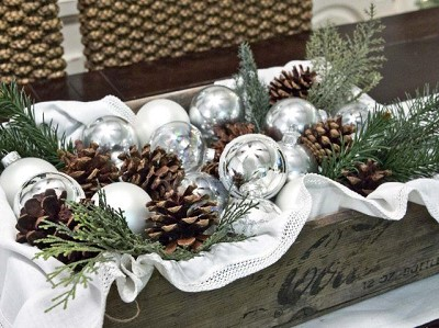 decoration table de noel vintage