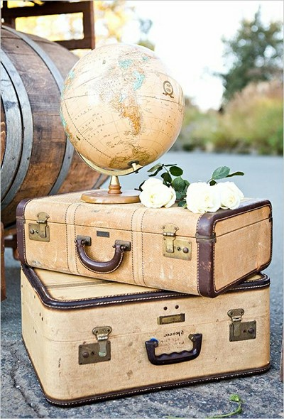 decoration valise vintage