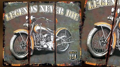 decoration vintage moto