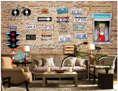 decoration vintage murale. Black Bedroom Furniture Sets. Home Design Ideas