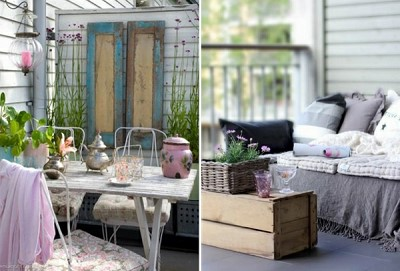 decoration vintage terrasse