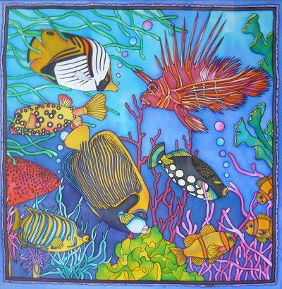 peinture decoration aquarium
